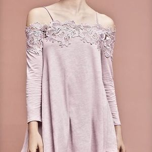 Anthro Meadow Rue Lace Off the Shoulder Top